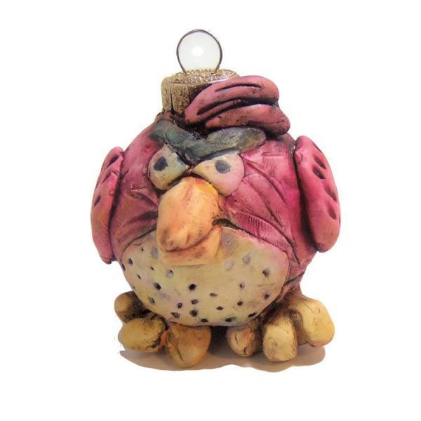 Vintage Style Angry Bird Christmas Ornament