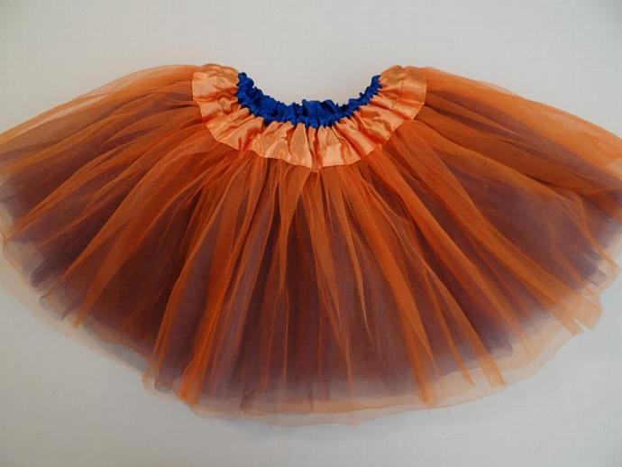 REVERSIBLE Tutu Orange / Blue Soft Tulle ... Children Toddler Costume UF Gator
