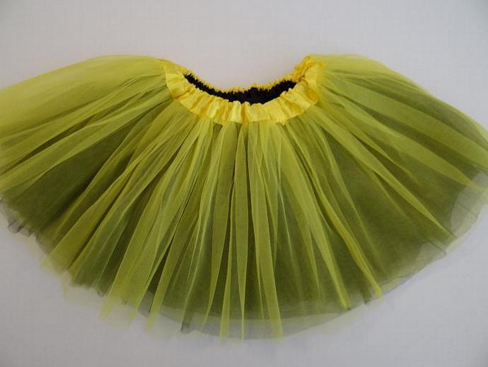 REVERSIBLE Tutu Yellow / Black Soft Tulle ... Children Toddler Costume