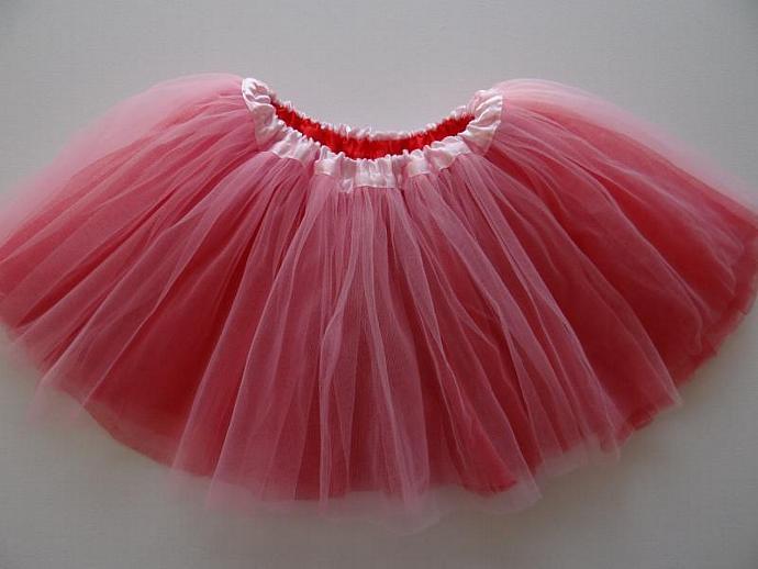 REVERSIBLE Tutu Pink / Red  Soft Tulle ... Children Toddler Costume