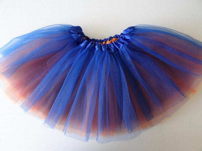 REVERSIBLE Tutu Blue / Orange Soft Tulle ... Children Toddler Costume UF Gator