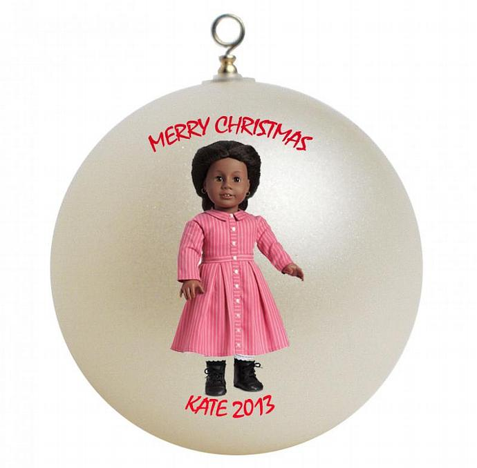 American Girl Addy Personalized Christmas Ornament