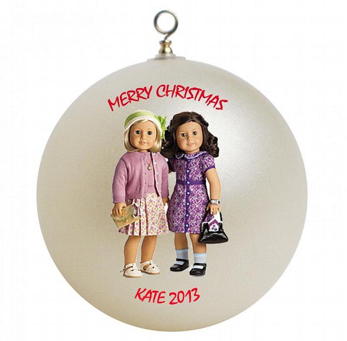 American Girl Best Friends Kit and Ruthie Personalized Christmas Ornament