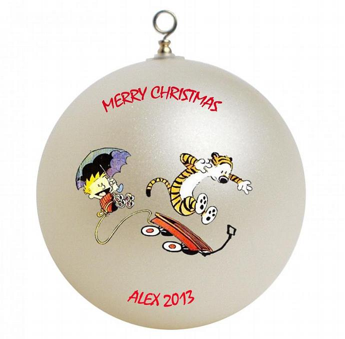 Calvin and Hobbes Personalized Christmas by GiftsFromHyla on Zibbet