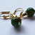 Little Green Leverback Earrings