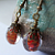 Vintage Style Orange Drop Earrings