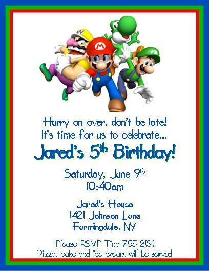 Super Mario Brothers Personalized Birthday By Thenotecardlady On