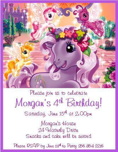 My Little Pony Personalized Birthday By Thenotecardlady On Zibbet