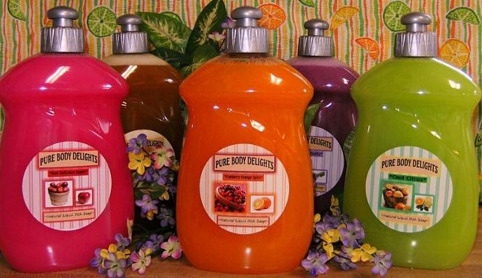 SPECIAL---NATURAL LIQUID DISH SOAP---MADE from SCRATCH--Pick your FAVORITE SCENT