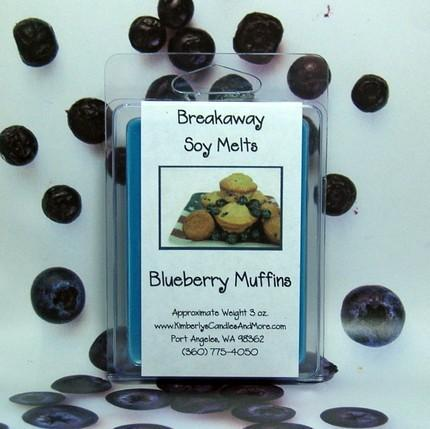 Blueberry Muffins Breakaway Clamshell Soy Wax Tart Melts