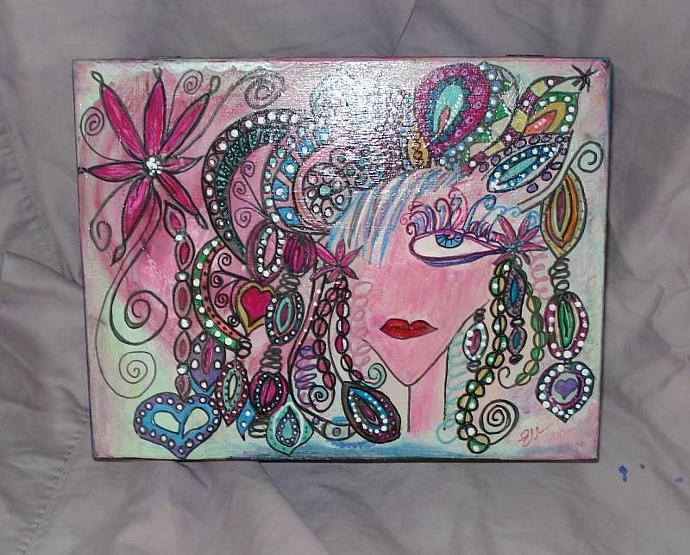 Hand Painted Goddess of Nick Knack Box