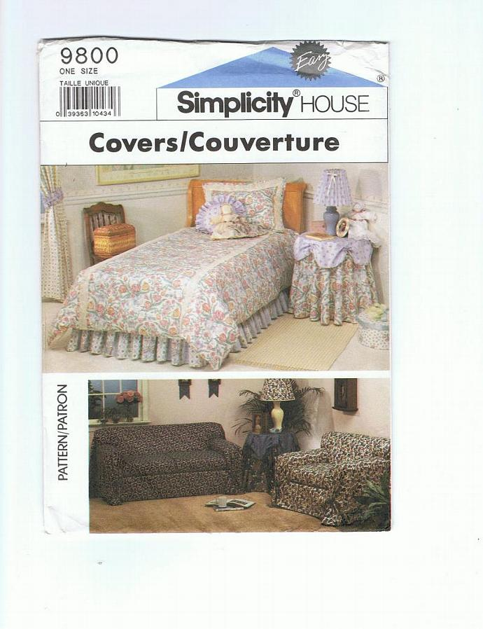 Sofa or chair throw, table skirt, duvet cover, dust ruffle, studio couch and