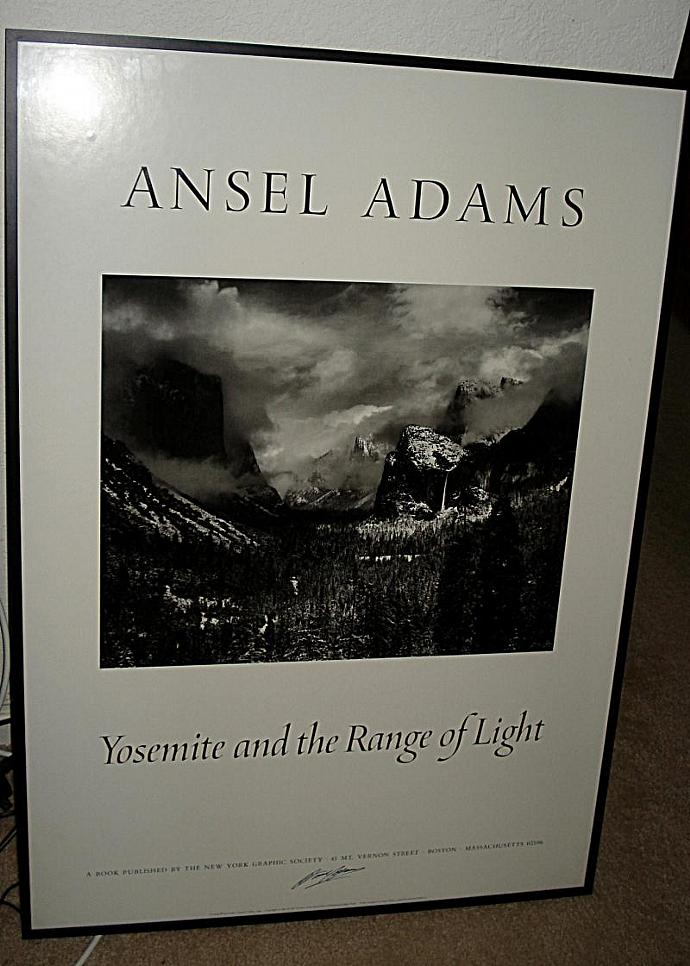Vintage Ansel Adams signed lithograph Clearing Winter Storm