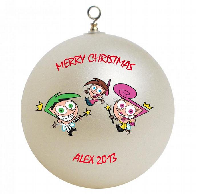 Fairly Odd Parents Personalized Christmas Ornament