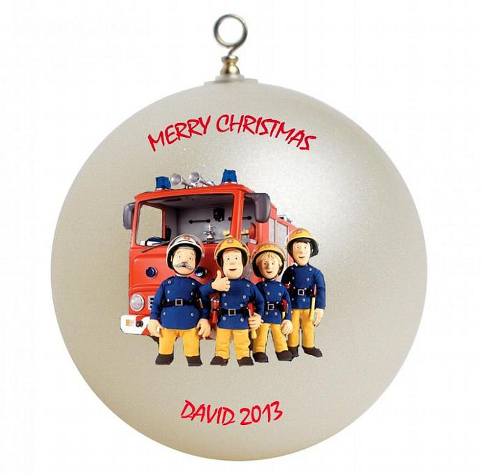 fireman sam personalized christmas ornament by giftsfromhyla on zibbet