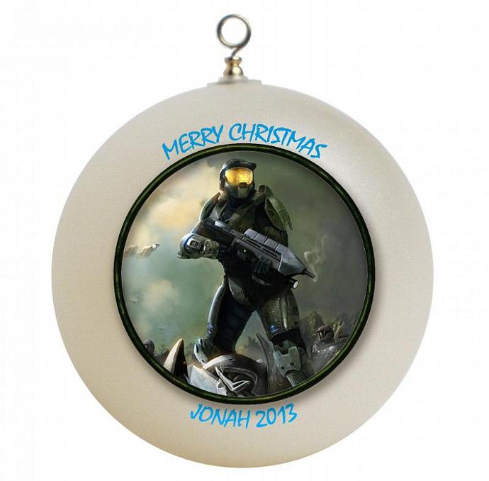 Halo Christmas Ornament.Halo Master Chief Personalized Christmas Ornament