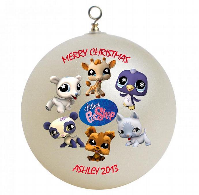 littlest pet shop personalized christmas ornament