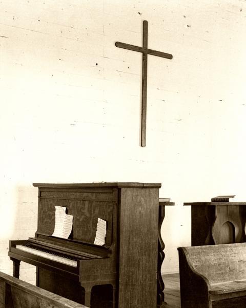 Country Church at Cades Cove Sepia Fine Art Photo