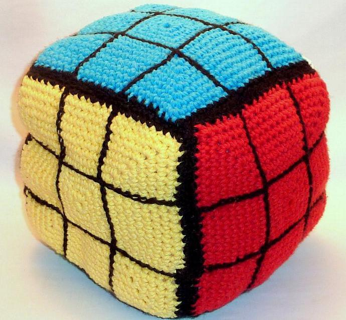 Rubiks Cube Pillow  Game Room Novelty Pillow