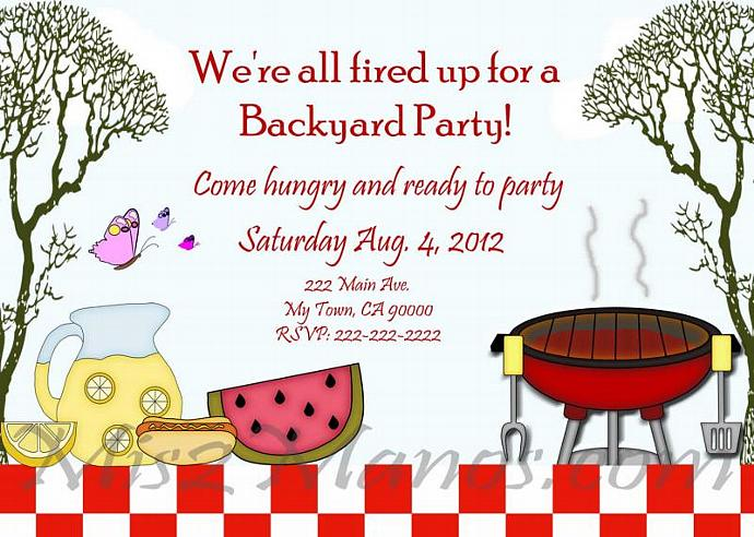bbq invitations diy printable barbecue party by mis2manos on zibbet