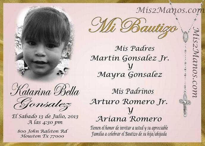 custom baptism invitation with photo printable by mis2manos on zibbet