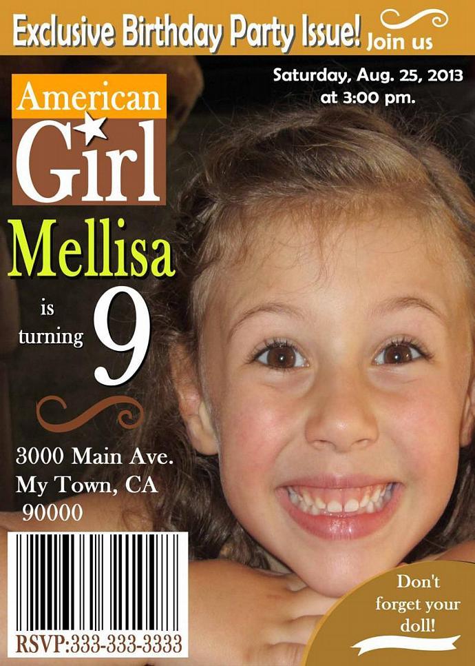 Magazine Cover Inspired Photo Birthday by Mis2Manos on Zibbet