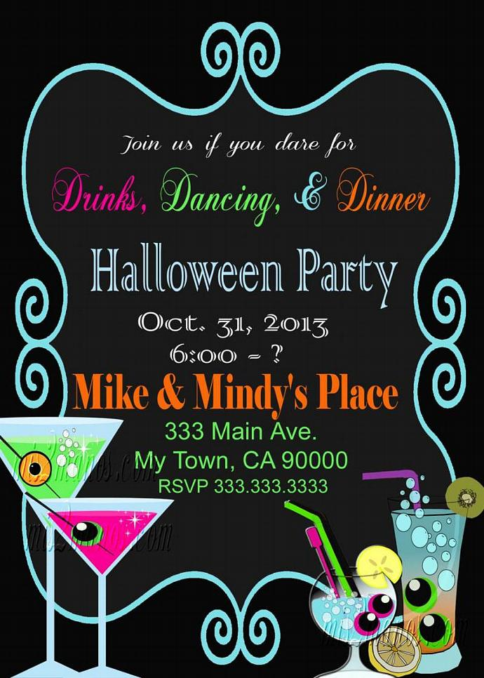 Halloween Party Invitation Office Birthday Invitations Printable DIY