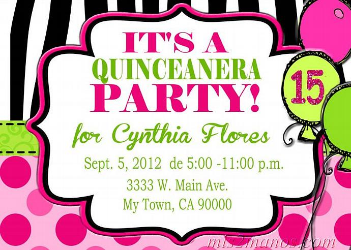Sweet 15 Invitation Invitaciones De 15 Años Printable File Quince Años Invitation Digital Printable File