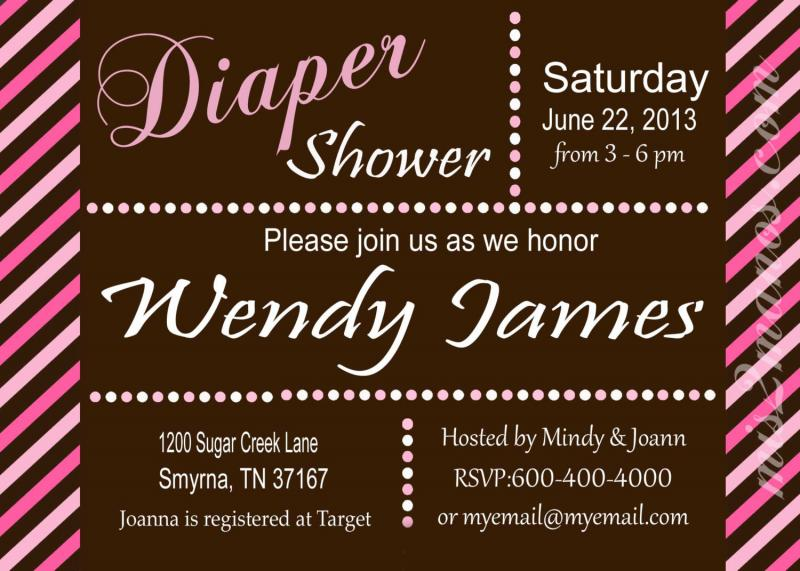 Diaper Shower Baby Shower Invites Diaper Party By Mis2Manos On Zibbet