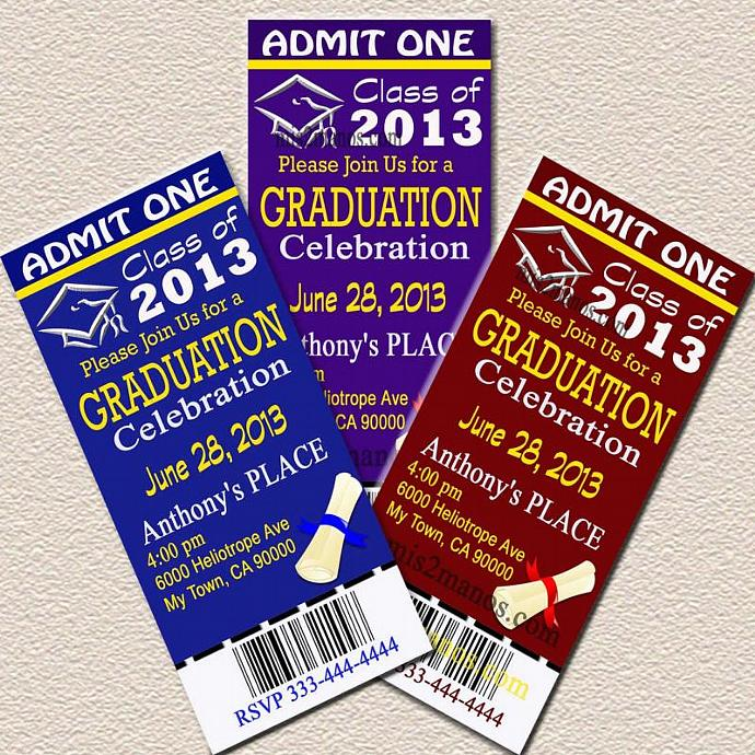 Fiesta Graduation Invitation Graduation Party Mis2manos