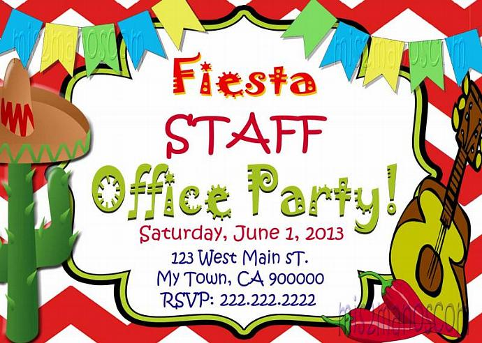 Fiesta Office Party  Birthday Invitation 16 de Septiembre Printable Digital