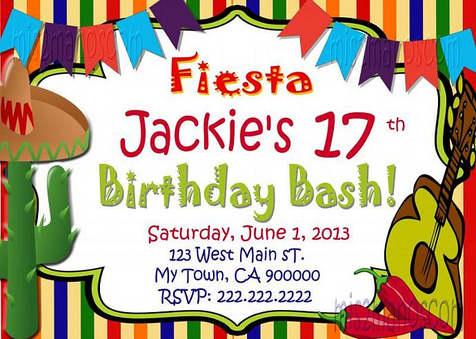 Fiesta Birthday Invitation 16 de Septiembre Birthday Invitation Printable