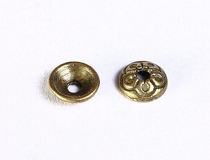 20pcs antique bronze antique brass round flower bead caps beadcaps 20 7mm (852)