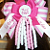 Lil Sister Pink Hair Bow String Korkers Bottle Cap FREE SHIPPING
