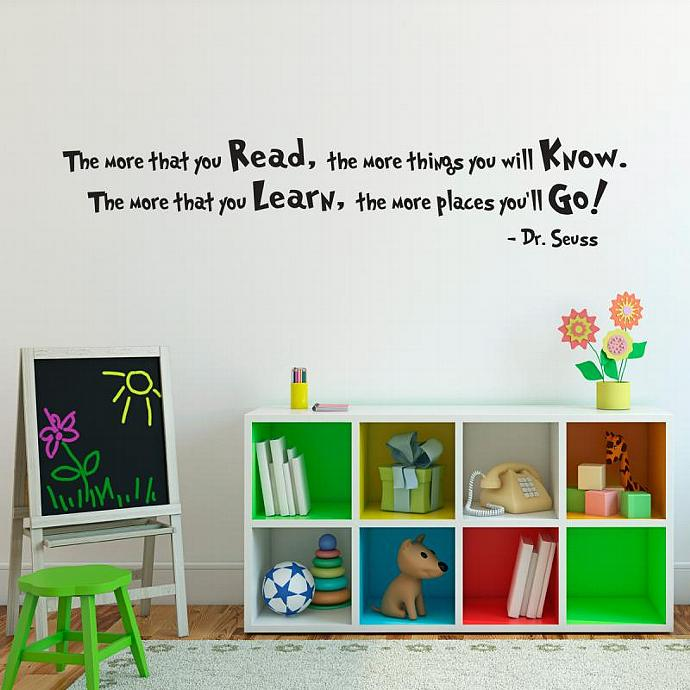 Dr. Seuss Quote Wall Decal   Large   The More That You Read   Dr