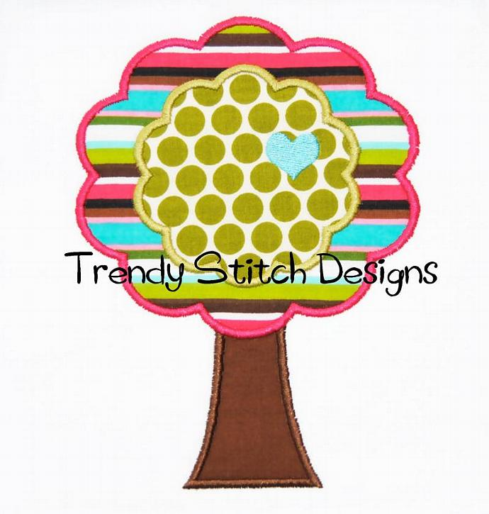 Tree 1 Applique Design Machine Embroidery Design