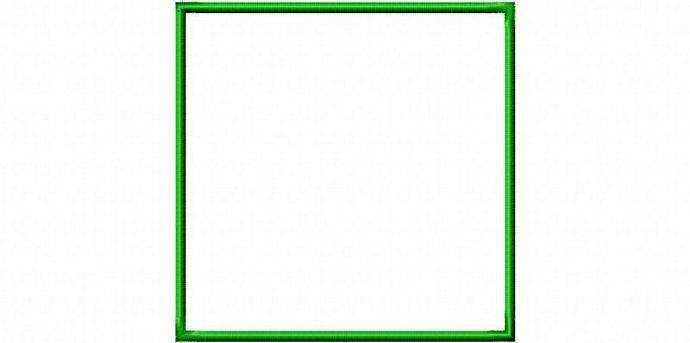 Square Frame Patch Applique Design Machine Embroidery Design INSTANT DOWNLOAD