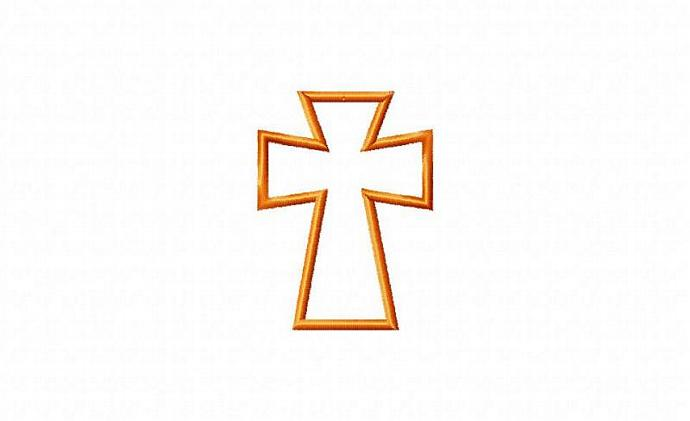 Cross 3 Mini Applique Design Machine Embroidery Design