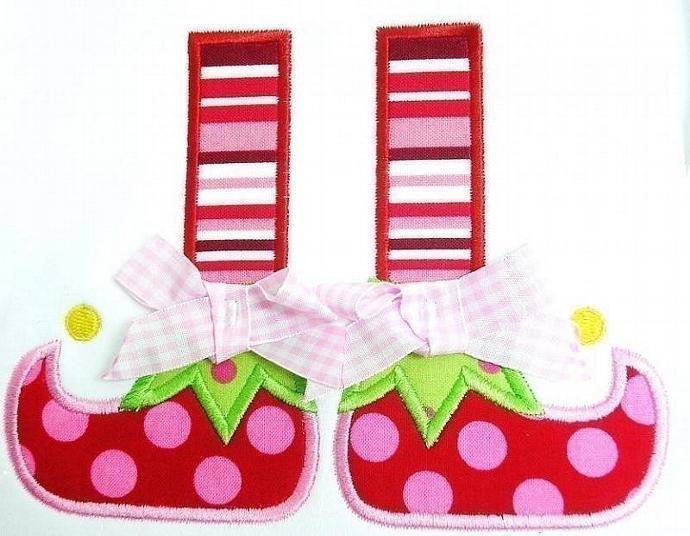 Elf Boots Applique Design Machine Embroidery Design