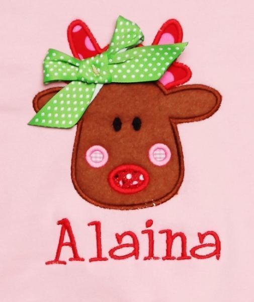 Rudolph Applique Machine Embroidery Design INSTANT DOWNLOAD