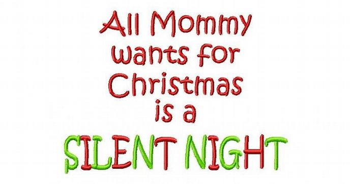 Mommy's Silent Night Machine Embroidery Design INSTANT DOWNLOAD