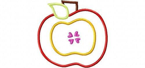 Apple 6 Applique Design Machine Embroidery Design Back to School