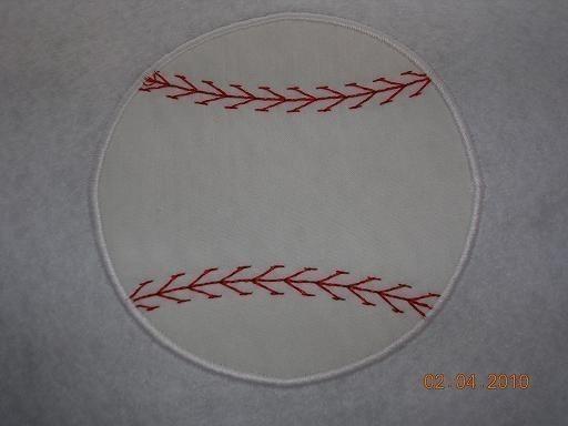 Baseball 2 Applique Embroidery Design