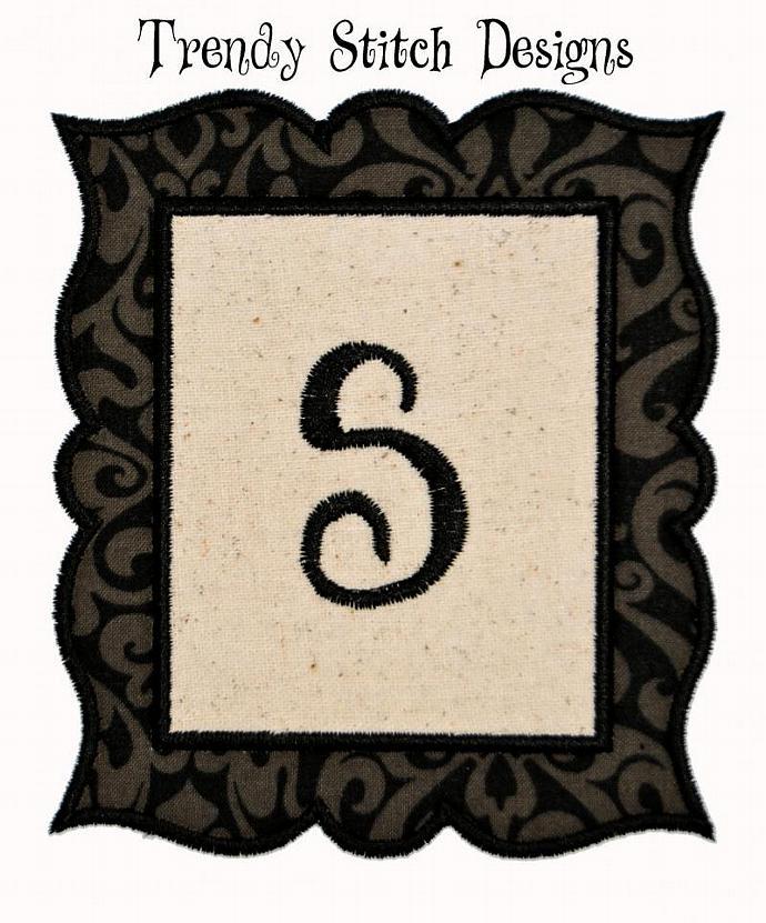 Frame1 Applique Machine Embroidery Design