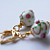 Flowered Lampwork Leverback Earrings