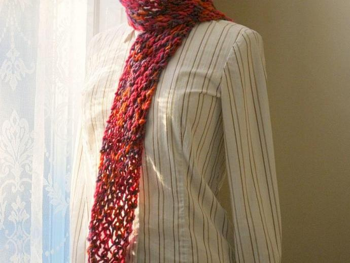 Scarf - colorful wool