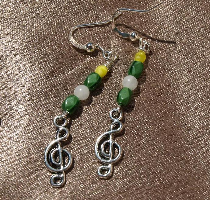 Treble Cleff Earrings 10114
