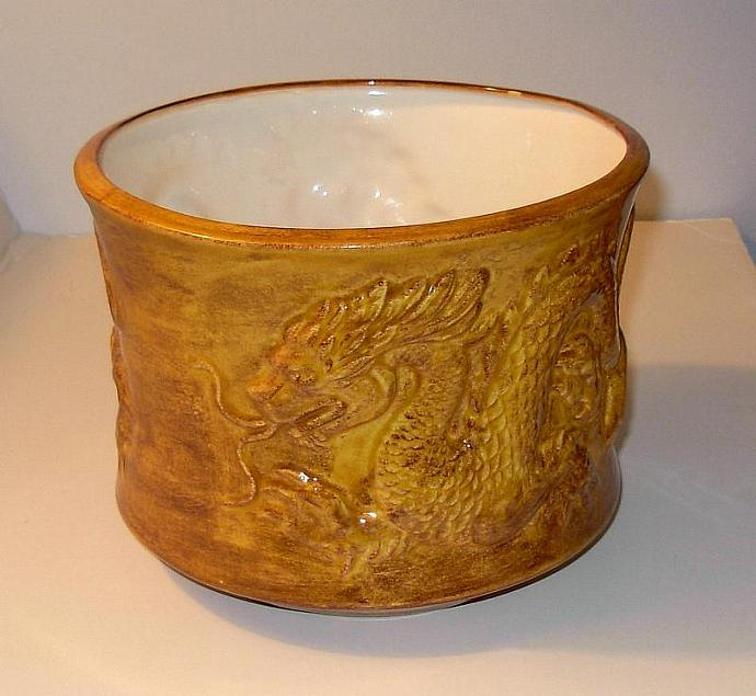Large Chinese Dragon Planter /  Ceramic Dragon Planter