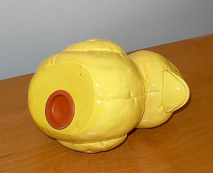 Ceramic Rubber Duckie Piggy Bank - Vintage Design - Yellow