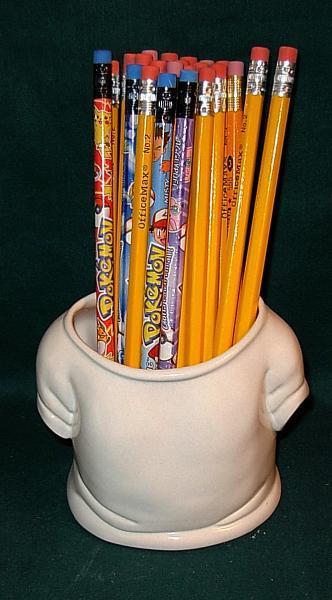 T-Shirt Pencil Holder / Planter / Scrubby Holder / Vase